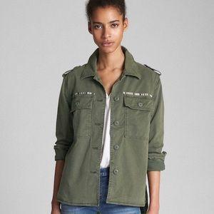 Green Military Utility Jacket